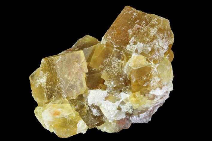 "1.5"" Lustrous Yellow Cubic Fluorite Crystal Cluster - Morocco"