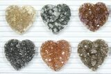 Wholesale: Druzy Amethyst/Quartz Heart Clusters (20 Pieces) - #84112-1