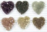 Wholesale: Druzy Amethyst/Quartz Heart Clusters (20 Pieces) - #84112-2