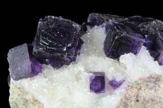 "2"" Purple Fluorite On Quartz - Jingbian Mine, China For Sale, #84770"