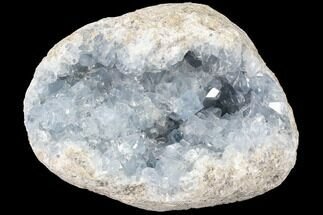 "5.5"" Blue Celestine (Celestite) Crystal Geode - Madagascar For Sale, #87131"