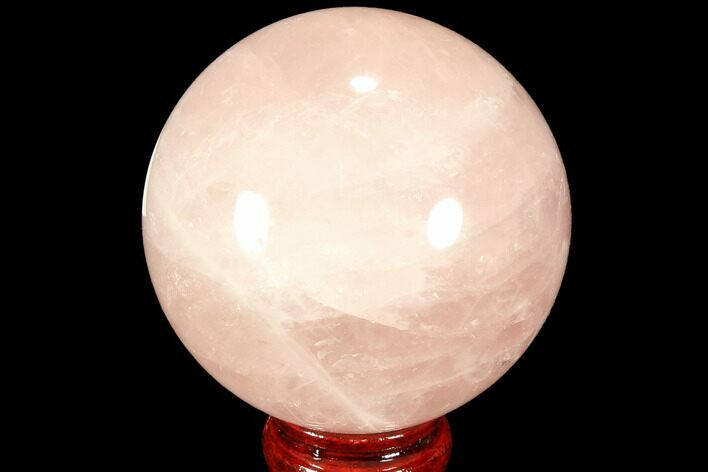 "3.35"" Polished Rose Quartz Sphere - Madagascar"