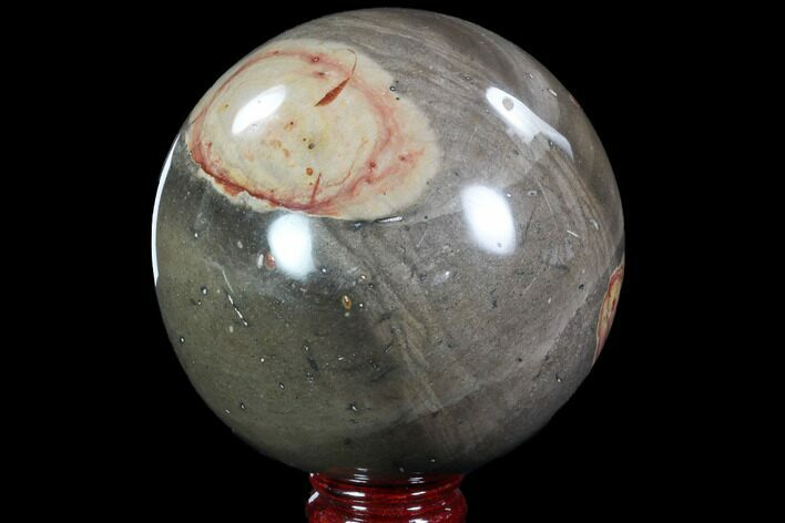 "4.5"" Polished Polychrome Jasper Sphere - Madagascar"
