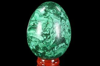 "Buy Stunning 2.6"" Polished Malachite Egg - Congo - #89671"