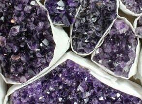 Wholesale Lot: Uruguay Amethyst Clusters (Grade A) - 11 Pieces For Sale, #90125