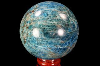 "2.4"" Bright Blue Apatite Sphere - Madagascar For Sale, #90203"