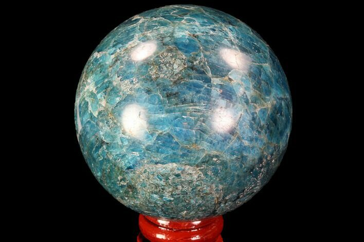 "Bargain, 2.45"" Bright Blue Apatite Sphere - Madagascar"