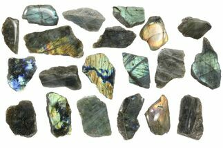 Wholesale: 1kg One Side Polished Labradorite - 20 Pieces For Sale, #84542