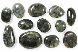Wholesale Box: Polished Labradorite Pebbles - 1 kg (2.2 lbs) For Sale, #90386