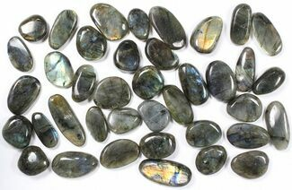 Wholesale Box: Polished Labradorite Pebbles - 1 kg (2.2 lbs) For Sale, #90443