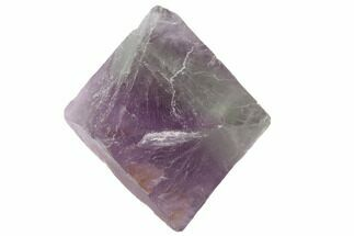 "Buy 1.65"" Fluorite Octahedron - Purple/Green Banded - #90922"