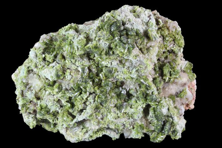 "3.3"" Lustrous Epidote with Quartz Crystals - Morocco"