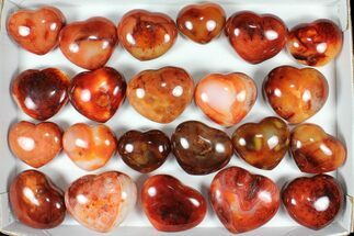Buy Wholesale Lot: 5kg Carnelian Agate Hearts - 22 Pieces - #91762