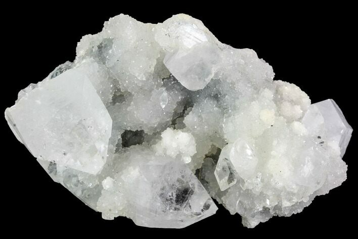 "3.4"" Zoned & Druzy Apophyllite Crystal Cluster - India"