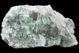 "5.5"" Green Cubic Fluorite and Calcite Crystal Cluster - Fluorescent! - #93658-4"