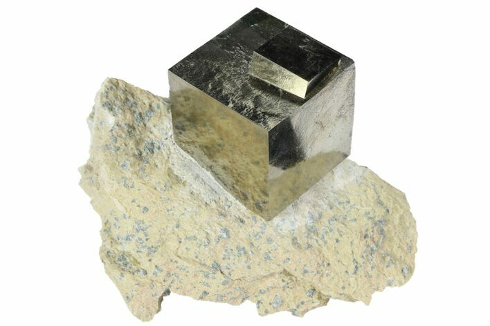Flawless, Large Pyrite Cube In Matrix - Navajun, Spain