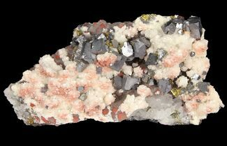 "Buy 4.2"" Quartz, Galena, Dolomite and Chalcopyrite Association - China - #94639"