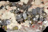 "4.2"" Quartz, Galena, Dolomite and Chalcopyrite Association - China - #94639-1"