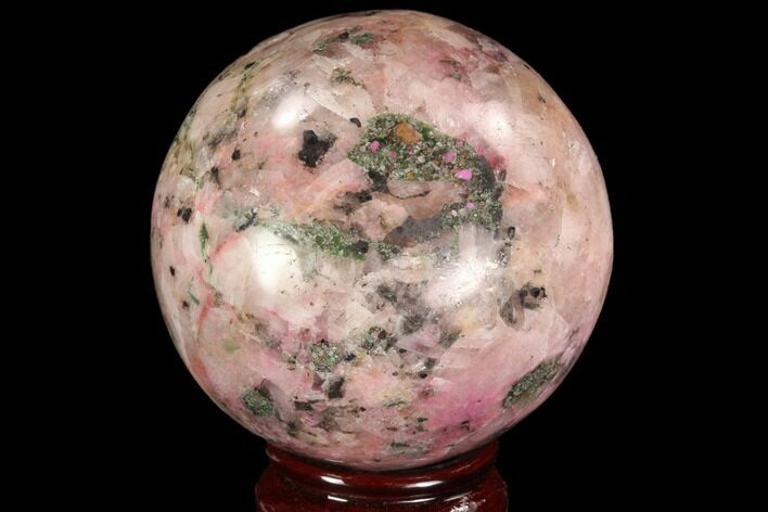 "Bargain, 2.95"" Polished Cobaltoan Calcite Sphere - Congo"