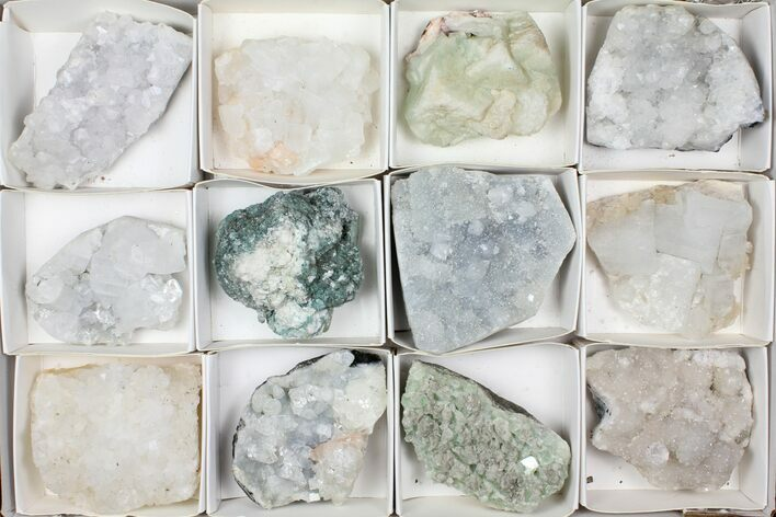 Mixed Indian Mineral & Crystal Flat - 12 Pieces