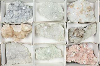 Mixed Indian Mineral & Crystal Flat - 9 Pieces For Sale, #95615