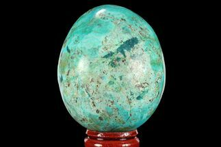 "Buy 2.3"" Polished Chrysocolla Egg - Peru - #95671"