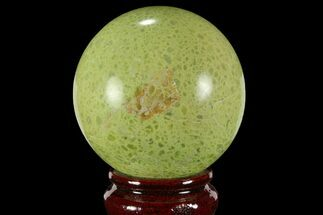 "3"" Polished Green Opal Sphere - Madagascar For Sale, #95861"