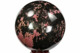 "5.2"" Beautiful Rhodonite Sphere - Madagascar For Sale, #96203"
