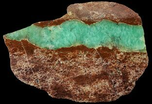 "Buy 4.2"" Polished Green Chrysoprase Slab - Western Australia - #95854"