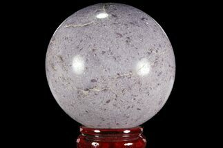"3.85"" Sparkly, Purple Lepidolite Sphere - Madagascar For Sale, #94082"