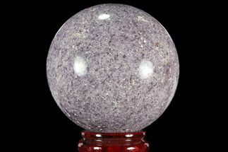 "3.95"" Sparkly, Purple Lepidolite Sphere - Madagascar For Sale, #94088"