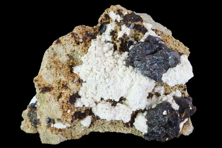 "2.6"" Sphalerite With White Barite - Missouri"