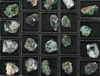 Wholesale Flat: Green, Fluorescent Rogerley Fluorite - 37 Pieces - #96996-1
