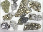 Wholesale Flat - Pyrite, Galena, Quartz, Clusters (Peru) - 20 Pieces - #97063-2