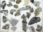 Wholesale Flat - Pyrite, Galena, Quartz, Etc From Peru - 49 Pieces - #97064-1