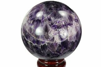 "Buy 3.3"" Polished Chevron Amethyst Sphere - Morocco - #97693"
