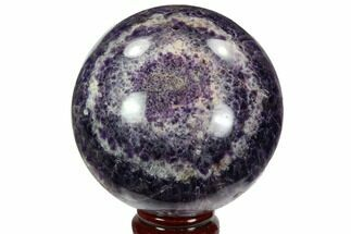 "Buy 3.85"" Polished Chevron Amethyst Sphere - Morocco - #97705"
