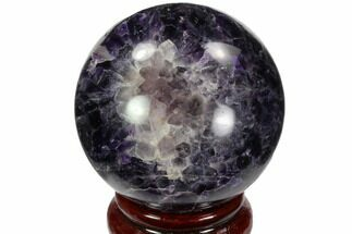 "2.35"" Polished Chevron Amethyst Sphere - Morocco For Sale, #97709"