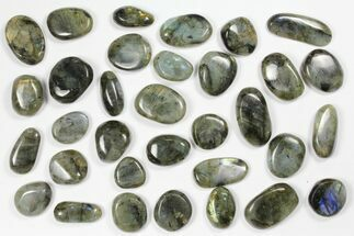 Lot: Polished Labradorite Pebbles - 1 kg (2.2 lbs) For Sale, #90629