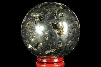 "2"" Polished Pyrite Sphere - Peru For Sale, #97979"