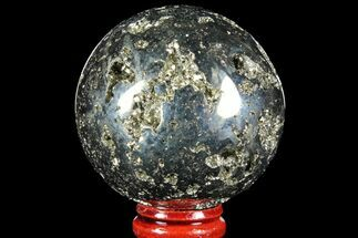 "2.15"" Polished Pyrite Sphere - Peru For Sale, #97982"