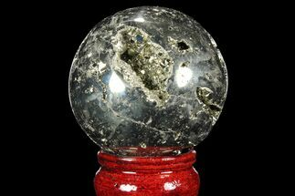 "2.3"" Polished Pyrite Sphere - Peru For Sale, #98000"