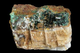 "1.6"" Atacamite, Calcite & Druzy Quartz Association - Peru For Sale, #98165"