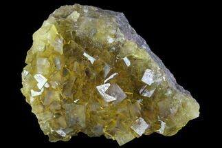 "2.9"" Yellow, Cubic Fluorite Crystal Cluster - Spain For Sale, #98699"
