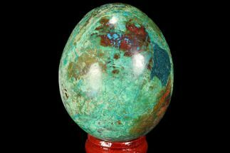 "Buy 2.2"" Polished Chrysocolla Egg - Peru - #99466"
