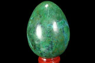 "2.5"" Polished Chrysocolla & Malachite Egg - Peru For Sale, #99470"