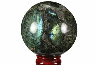 "Bargain, 3.25"" Flashy, Polished Labradorite Sphere - Great Color Play For Sale, #99389"