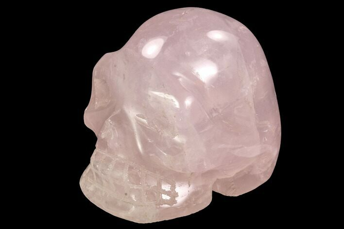 "3.75"" Polished Rose Quartz Crystal Skull - Madagascar"