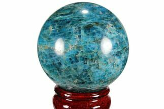 "2.4"" Bright Blue Apatite Sphere - Madagascar For Sale, #100310"