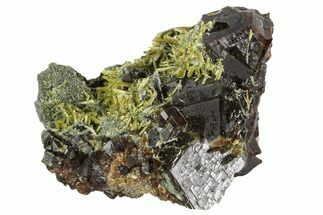 "1.7"" Garnet Cluster with Feldspar and Epidote - Pakistan For Sale, #100403"